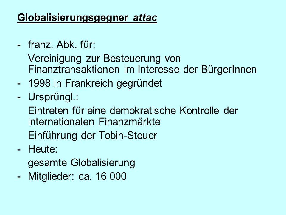 Globalisierungsgegner attac