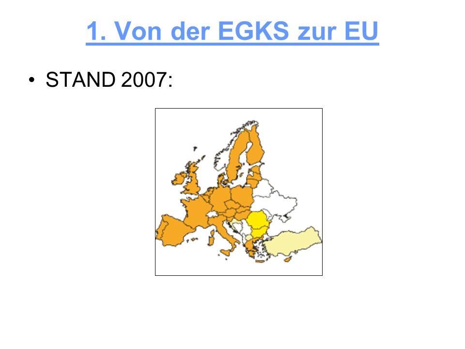 1. Von der EGKS zur EU STAND 2007:
