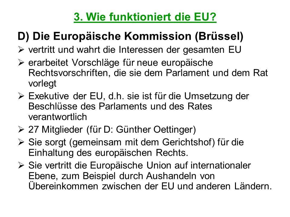 3. Wie funktioniert die EU