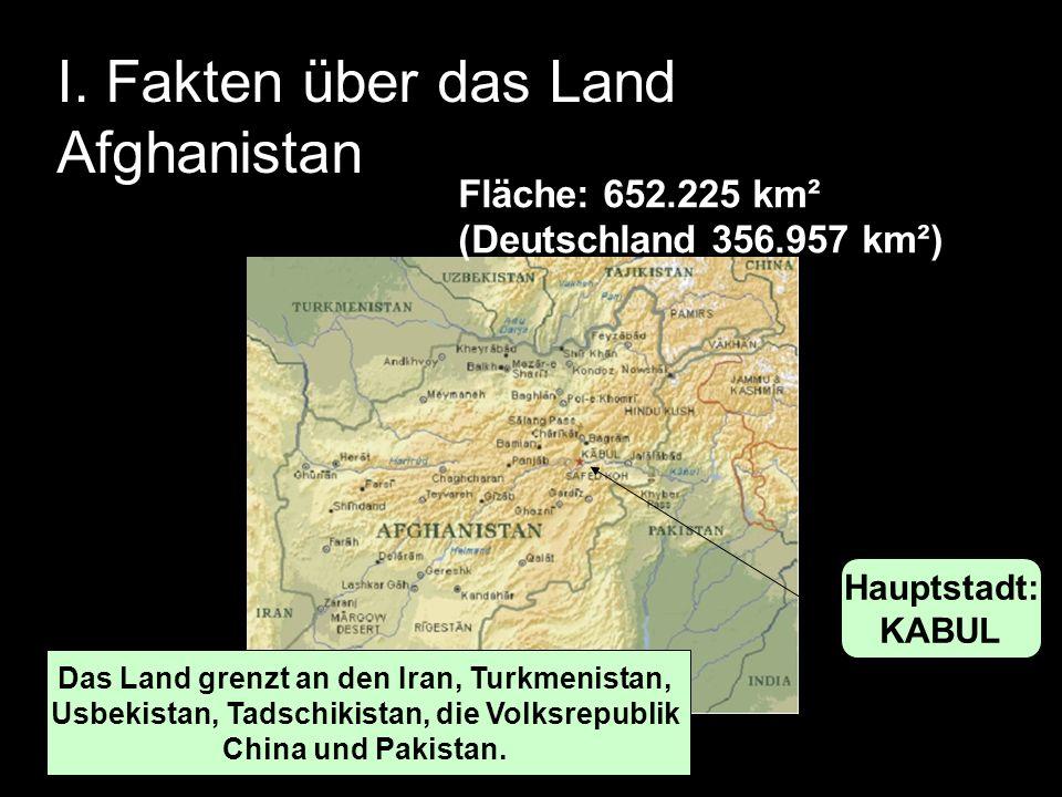 I. Fakten über das Land Afghanistan