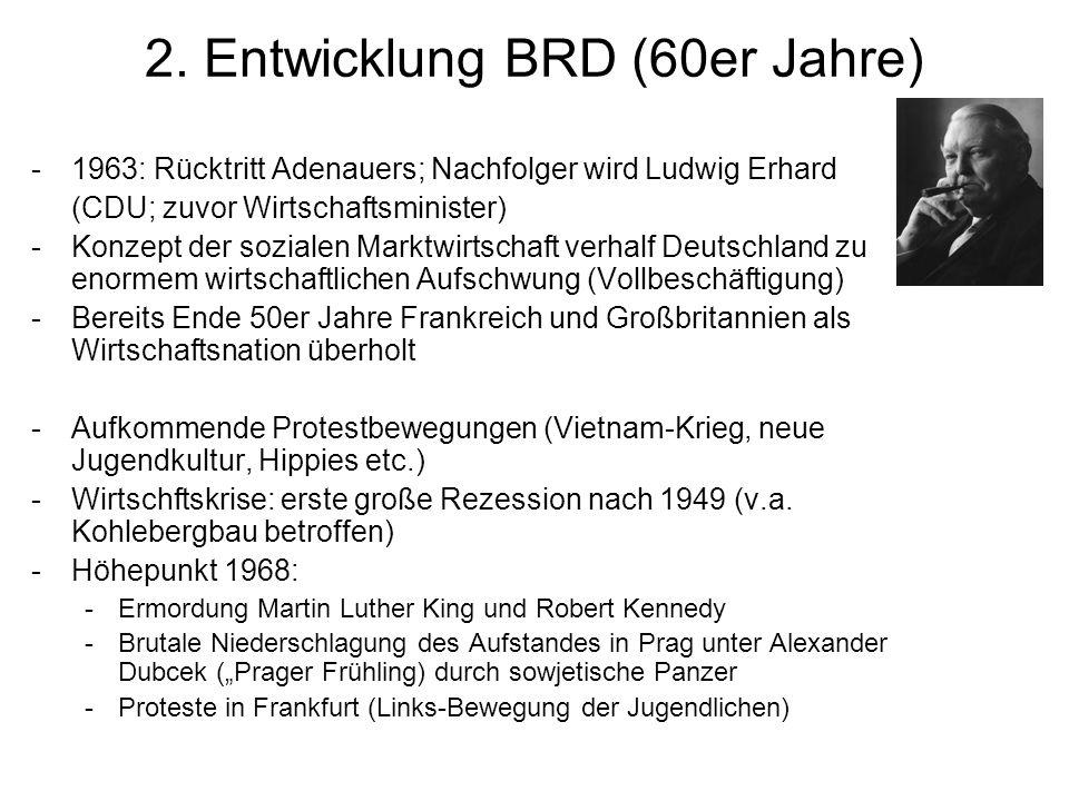 2. Entwicklung BRD (60er Jahre)