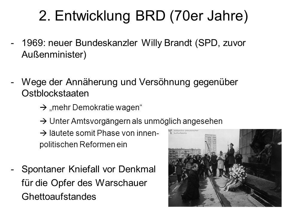 2. Entwicklung BRD (70er Jahre)