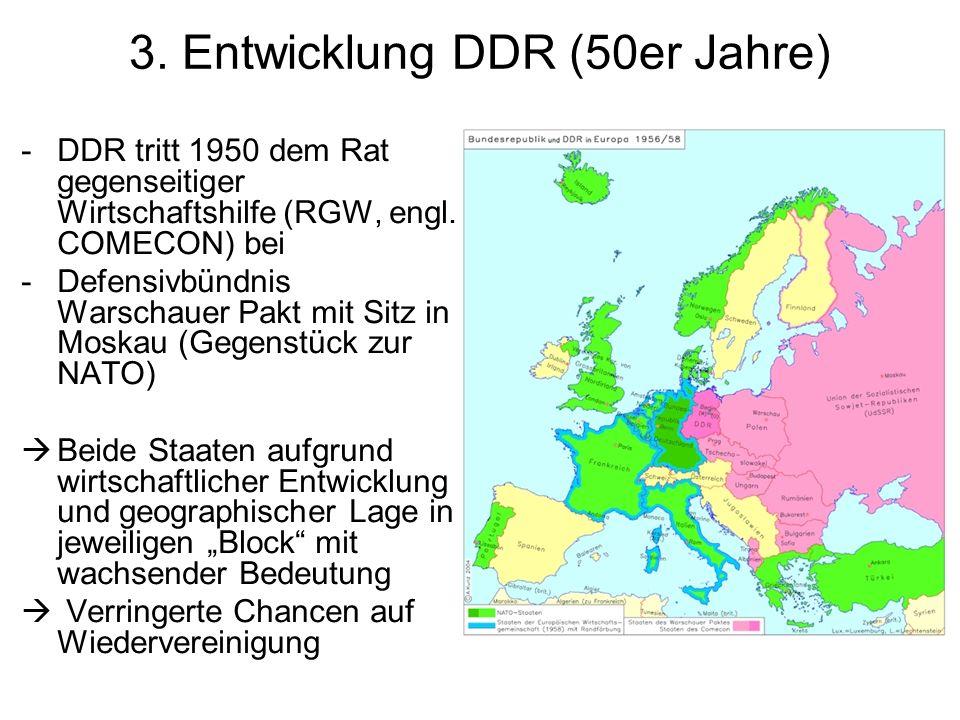 3. Entwicklung DDR (50er Jahre)