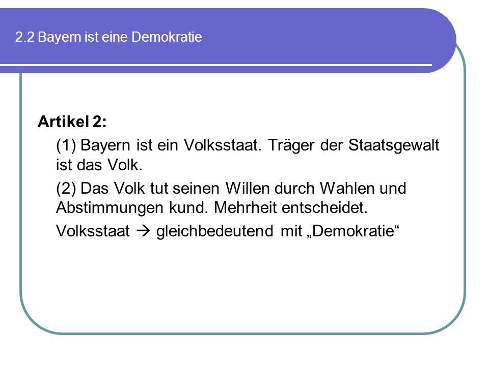 2.2 Bayern ist eine Demokratie