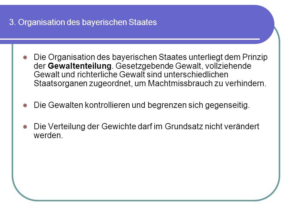 3. Organisation des bayerischen Staates