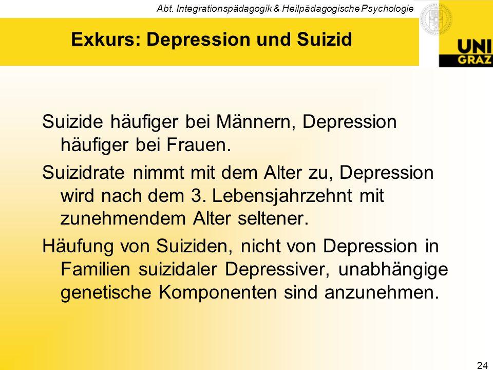 Exkurs: Depression und Suizid