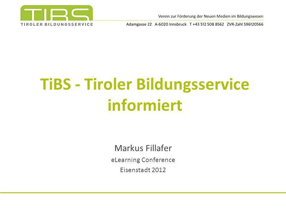 TiBS - Tiroler Bildungsservice informiert