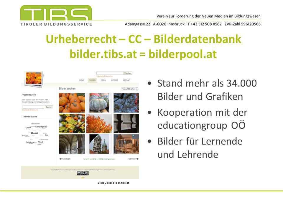Urheberrecht – CC – Bilderdatenbank bilder.tibs.at = bilderpool.at