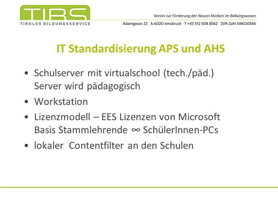 IT Standardisierung APS und AHS
