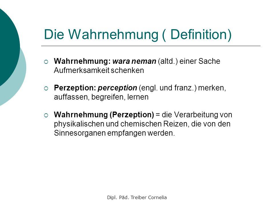 Die Wahrnehmung ( Definition)