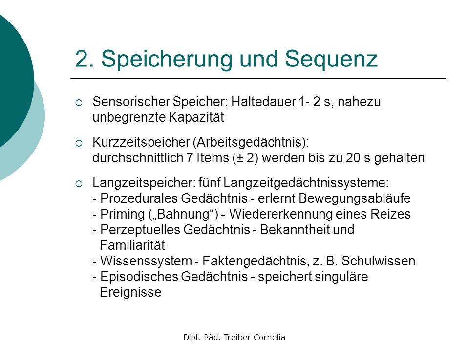 2. Speicherung und Sequenz