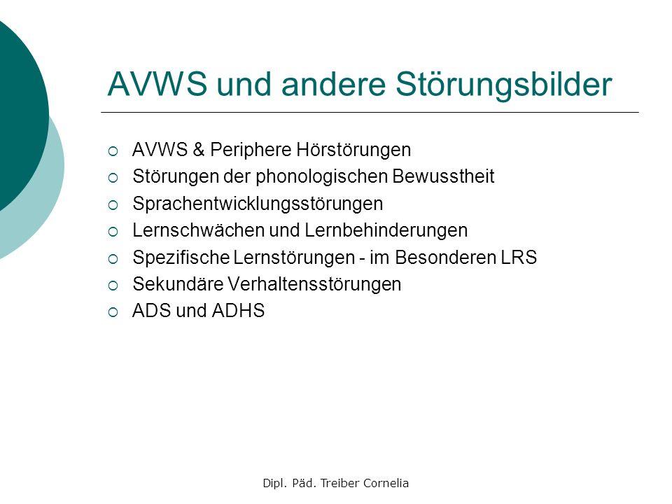 AVWS und andere Störungsbilder