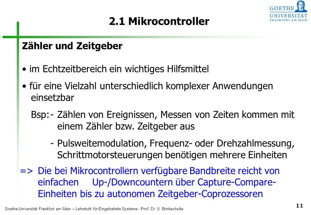 2.1 Mikrocontroller Zähler und Zeitgeber