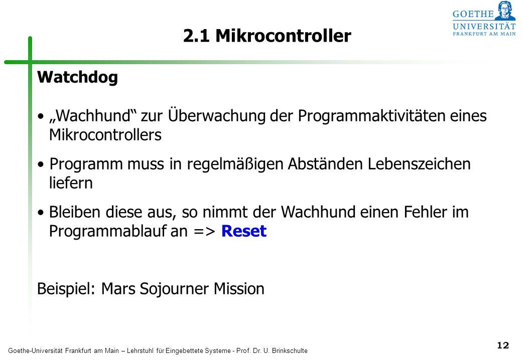 2.1 Mikrocontroller Watchdog