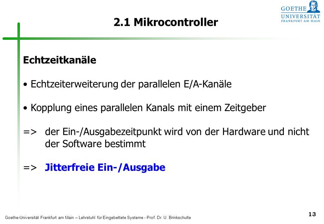 2.1 Mikrocontroller Echtzeitkanäle