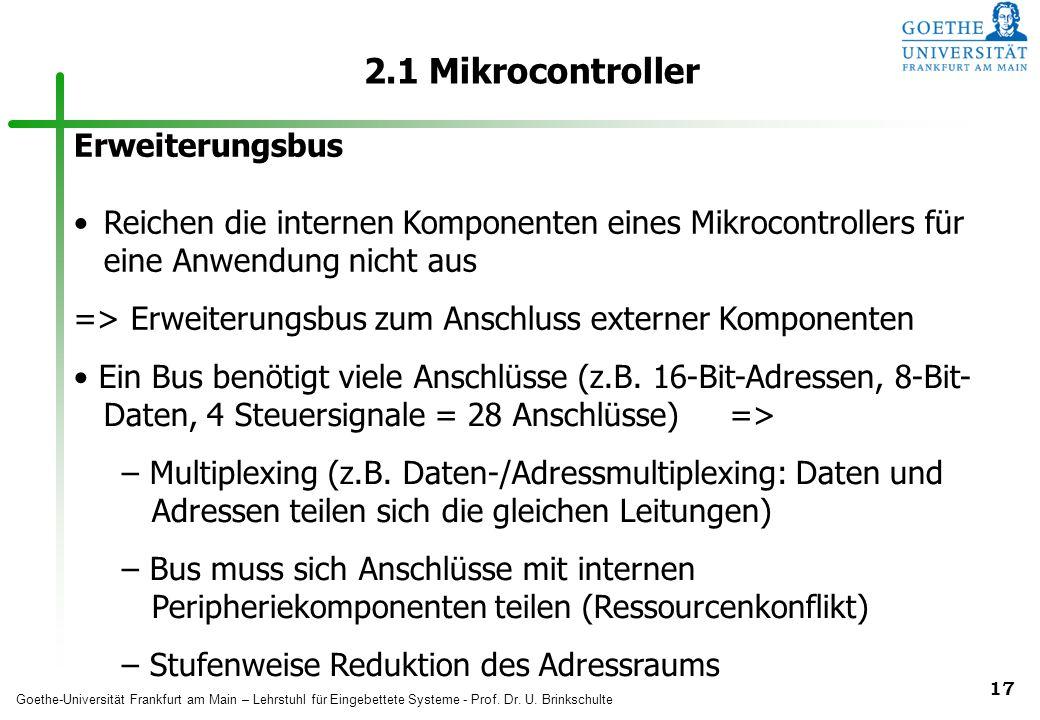 2.1 Mikrocontroller Erweiterungsbus