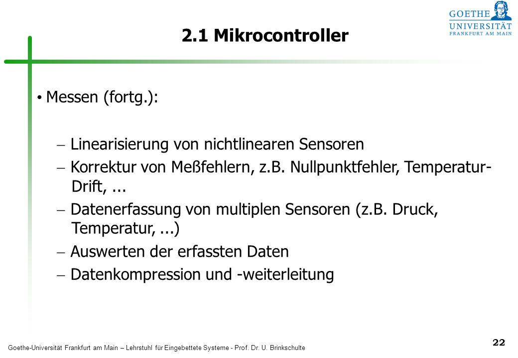 2.1 Mikrocontroller Messen (fortg.):