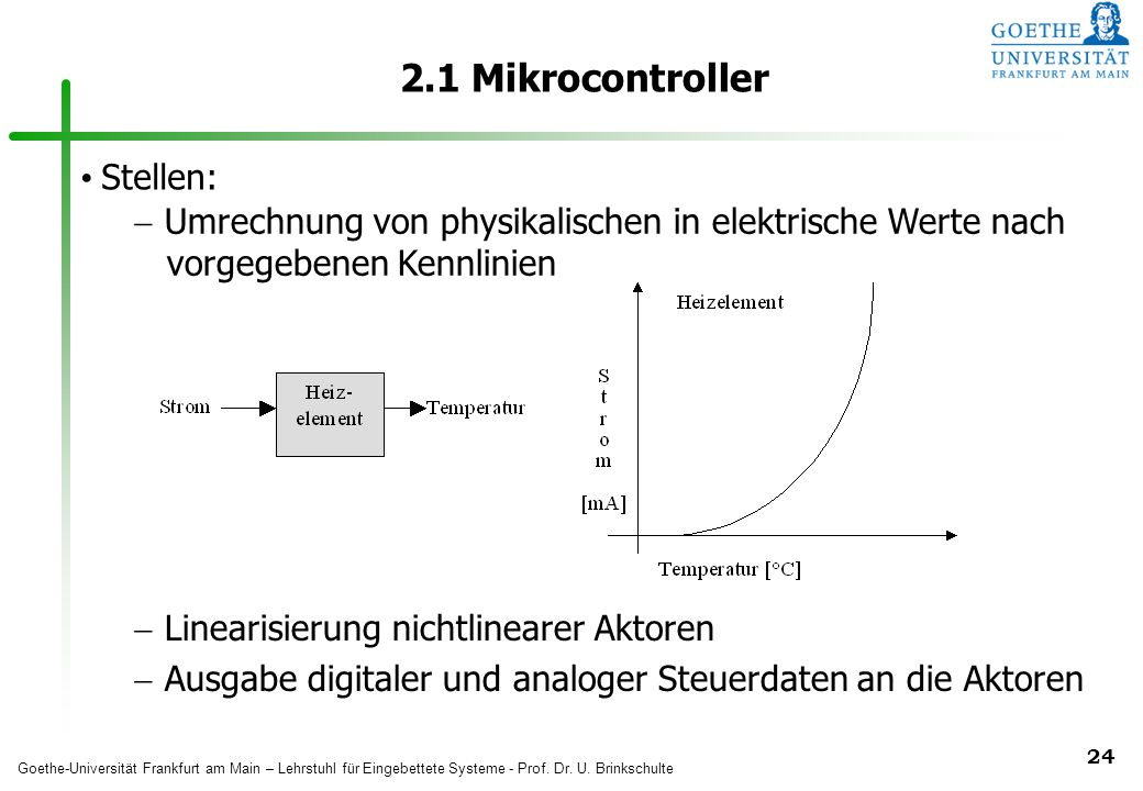 2.1 Mikrocontroller Stellen: