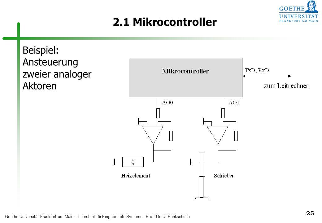 2.1 Mikrocontroller Beispiel: Ansteuerung zweier analoger Aktoren