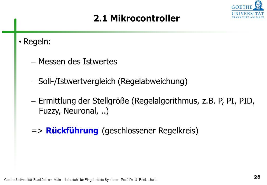 2.1 Mikrocontroller Regeln: Messen des Istwertes