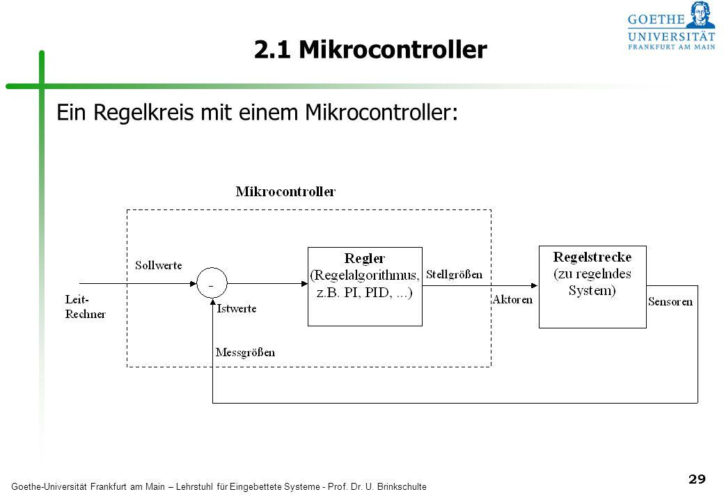 2.1 Mikrocontroller Ein Regelkreis mit einem Mikrocontroller: