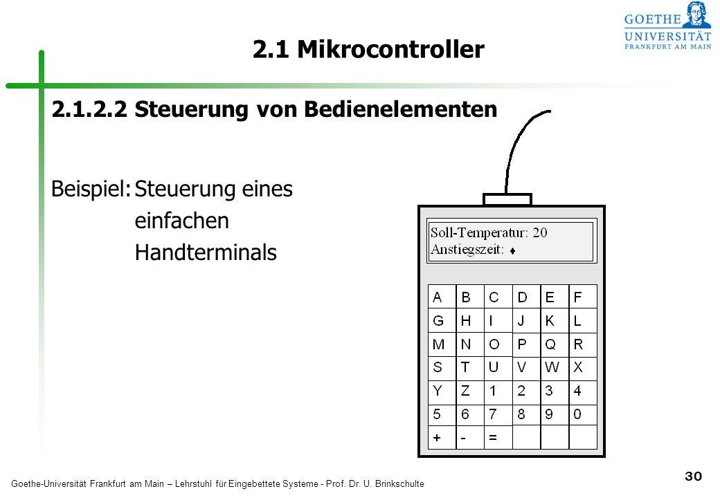 2.1 Mikrocontroller 2.1.2.2 Steuerung von Bedienelementen
