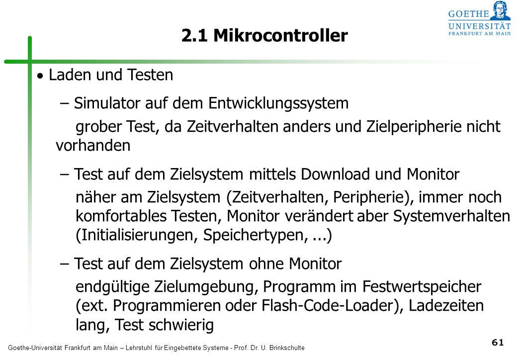 2.1 Mikrocontroller Laden und Testen