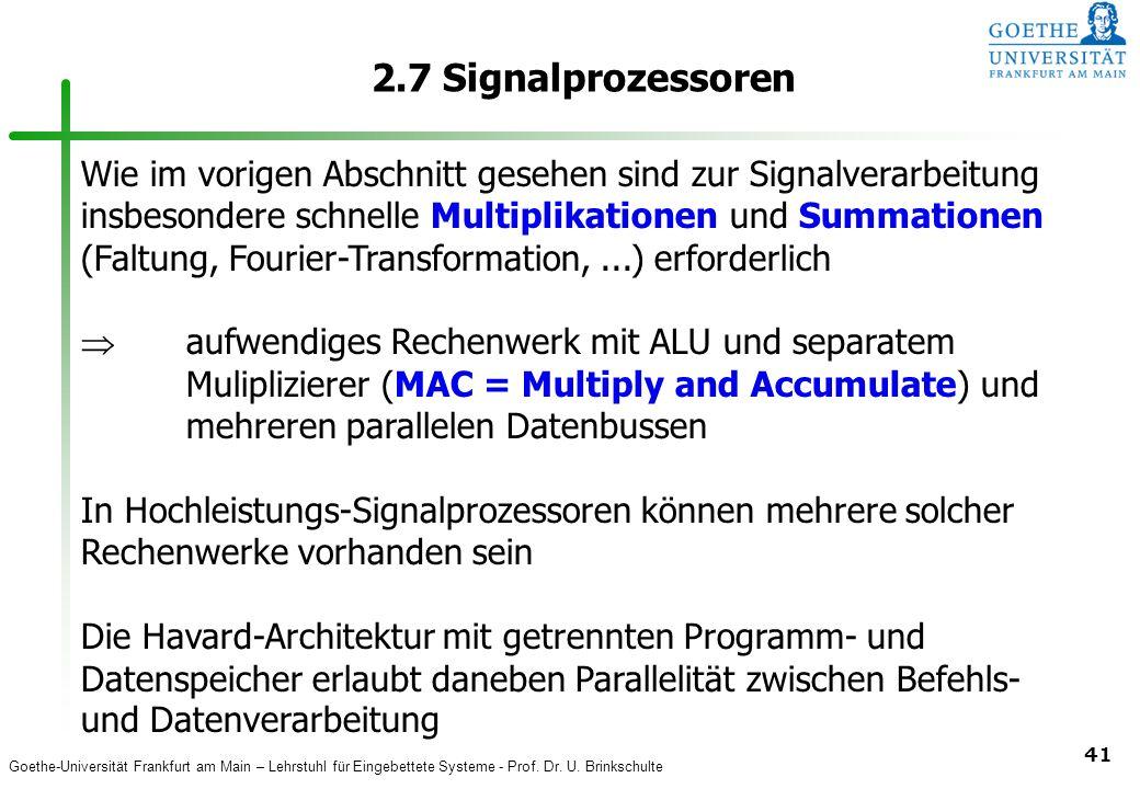 2.7 Signalprozessoren