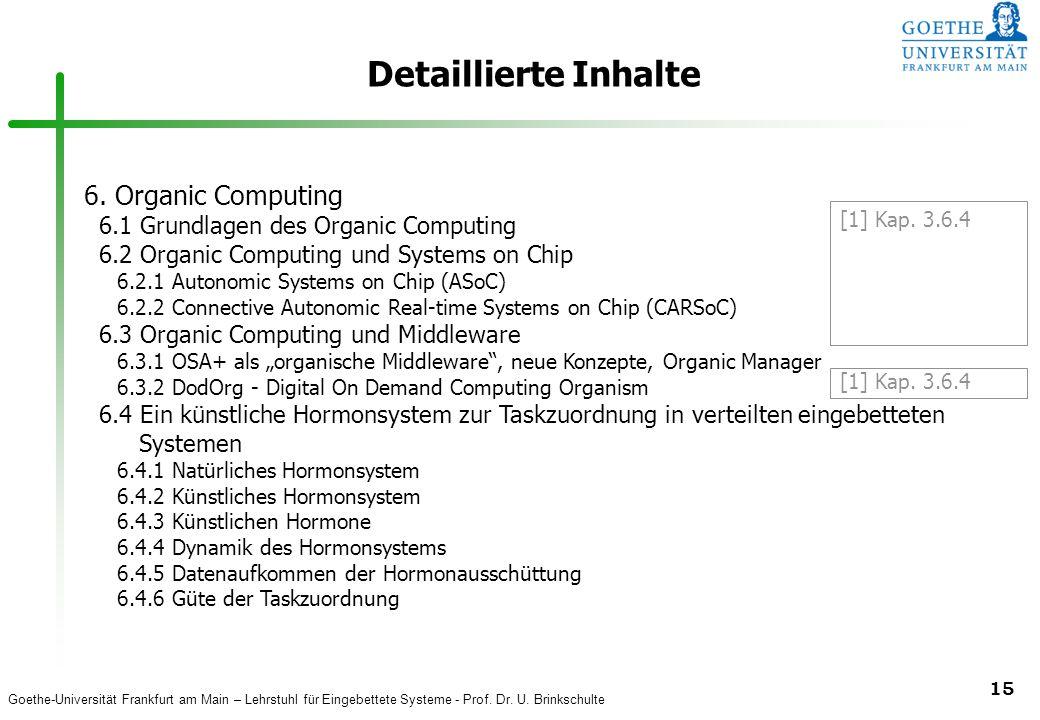 Detaillierte Inhalte 6. Organic Computing