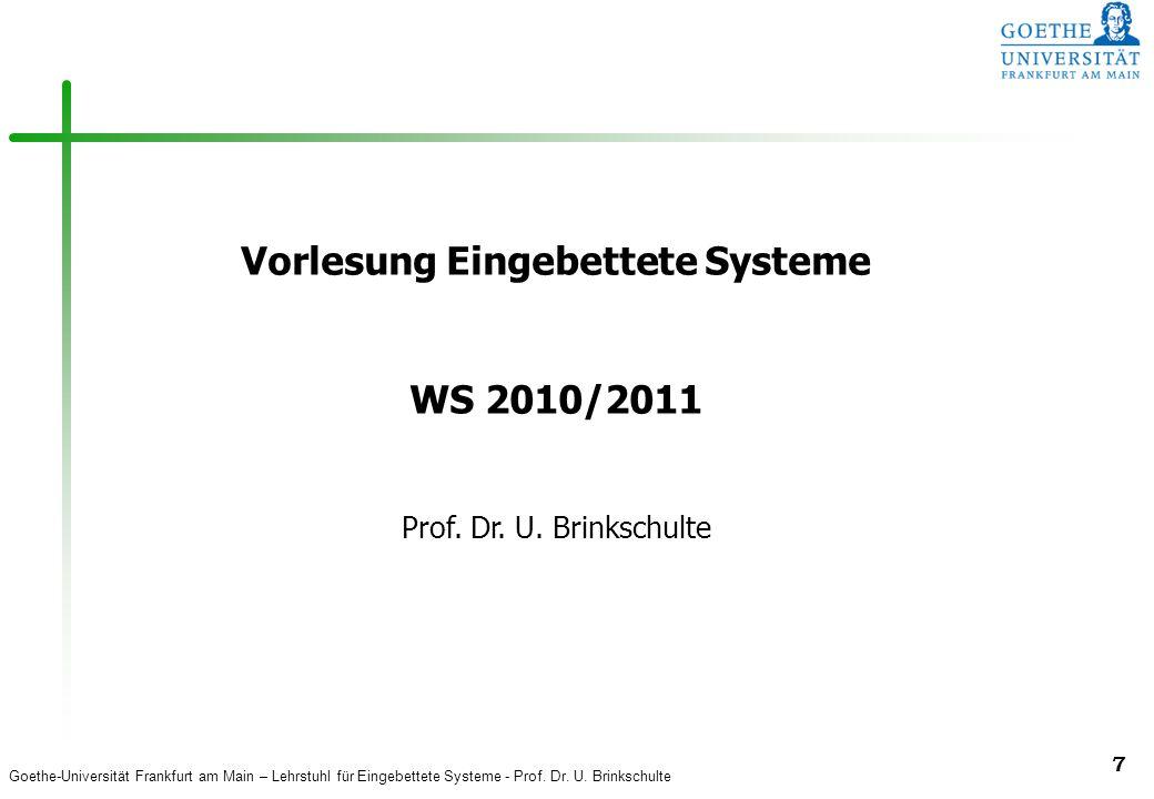Vorlesung Eingebettete Systeme