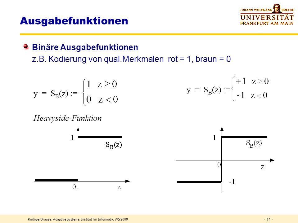 Ausgabefunktionen Binäre Ausgabefunktionen