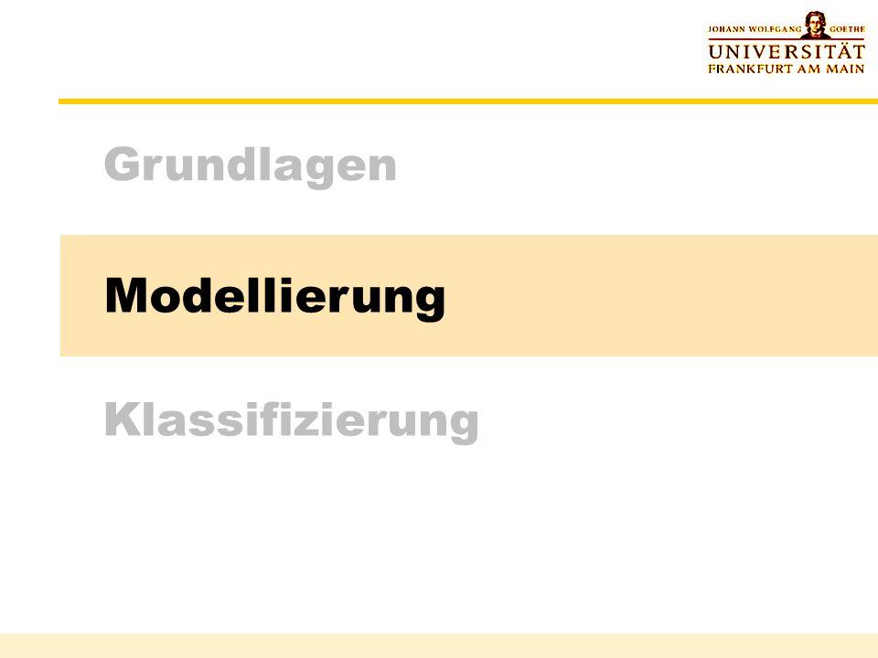 Grundlagen Modellierung Klassifizierung