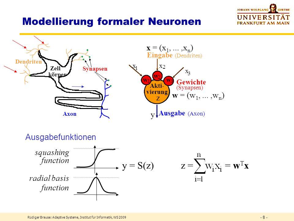 Modellierung formaler Neuronen