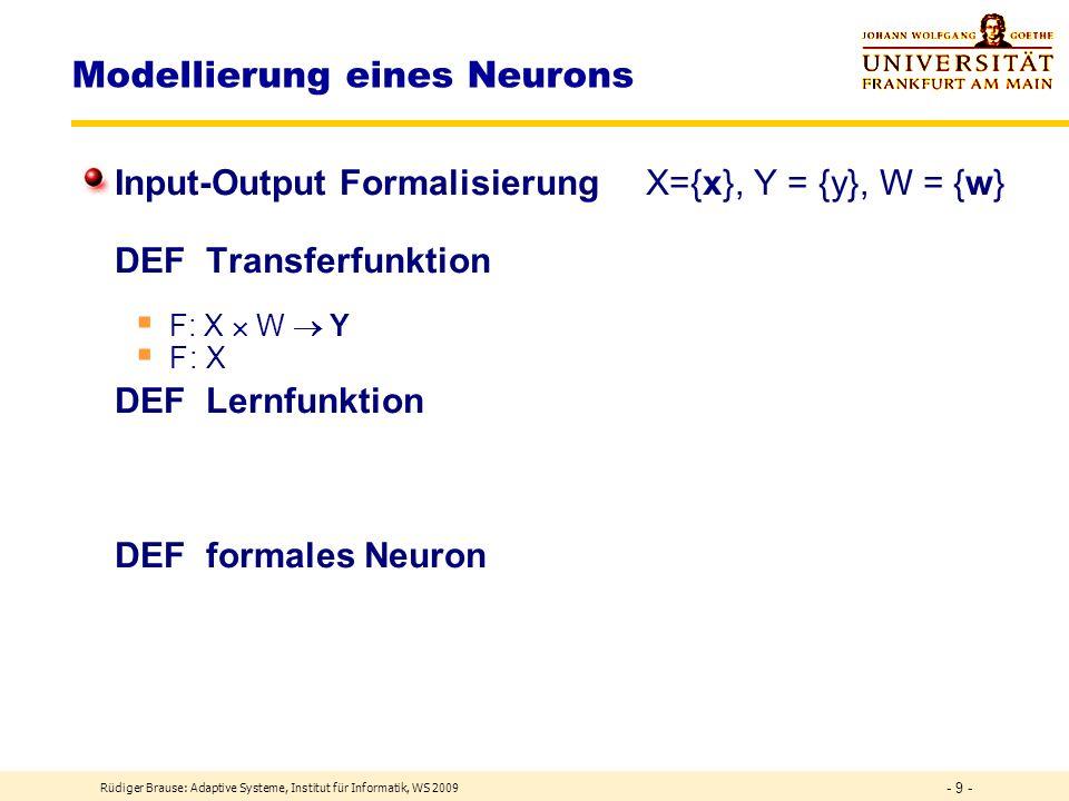 Modellierung eines Neurons