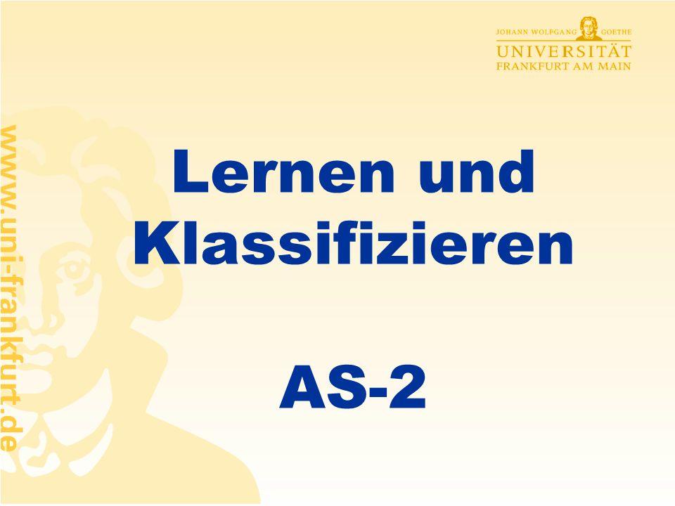 Lernen und Klassifizieren AS-2