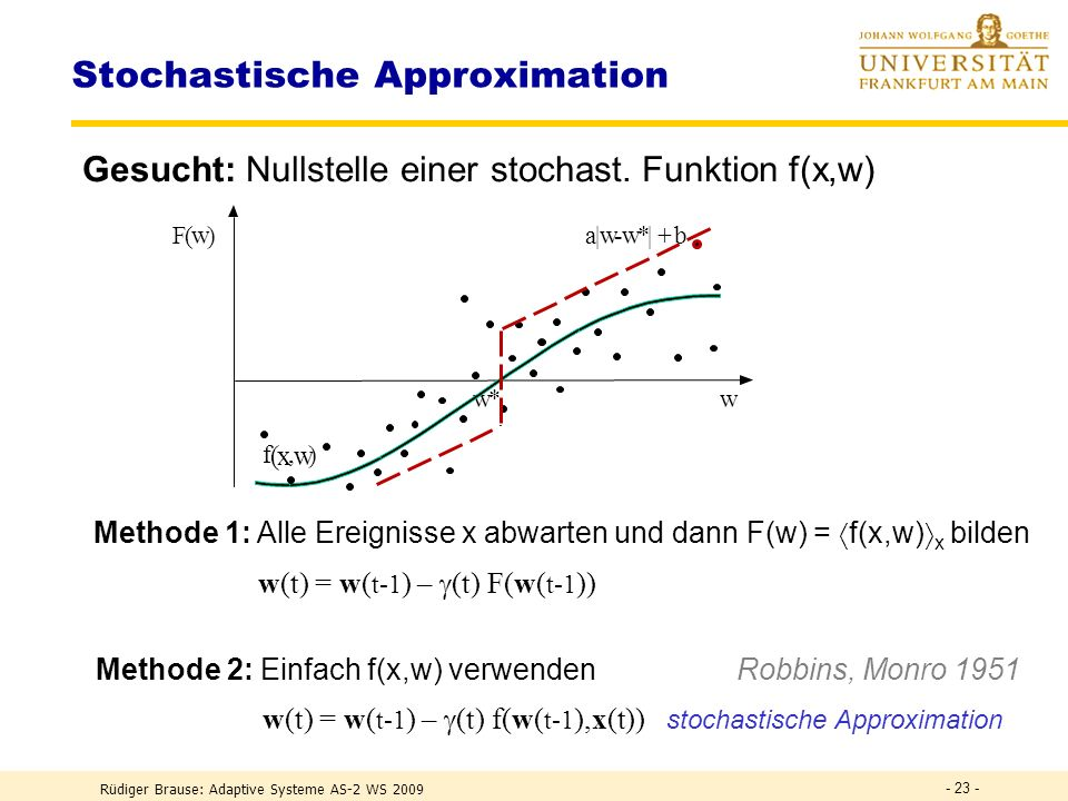 Stochastische Approximation