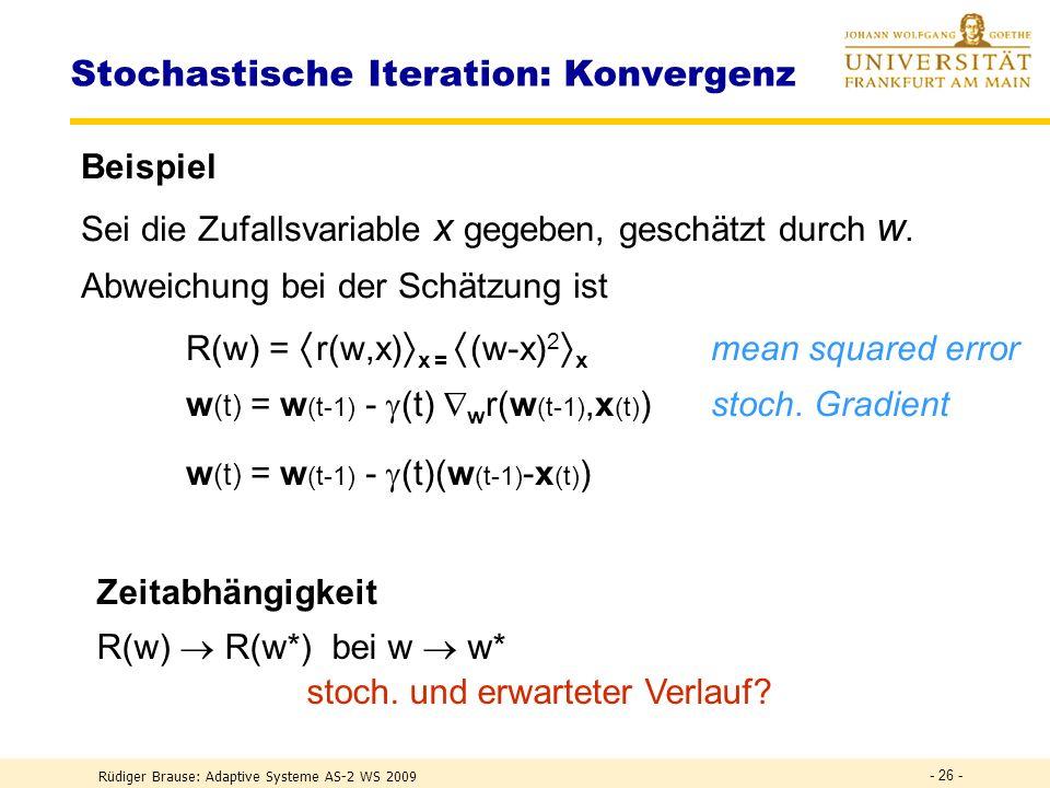 Stochastische Iteration: Konvergenz