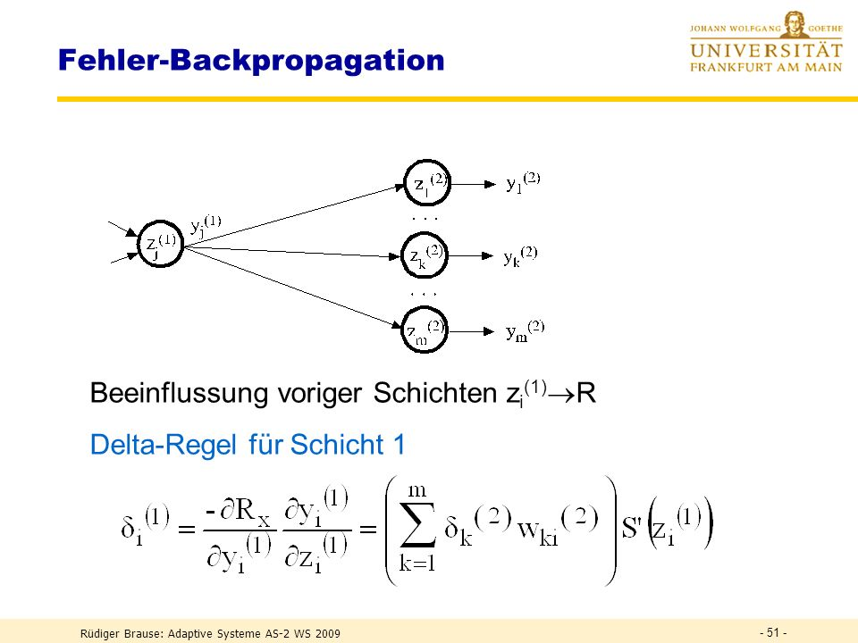 Fehler-Backpropagation