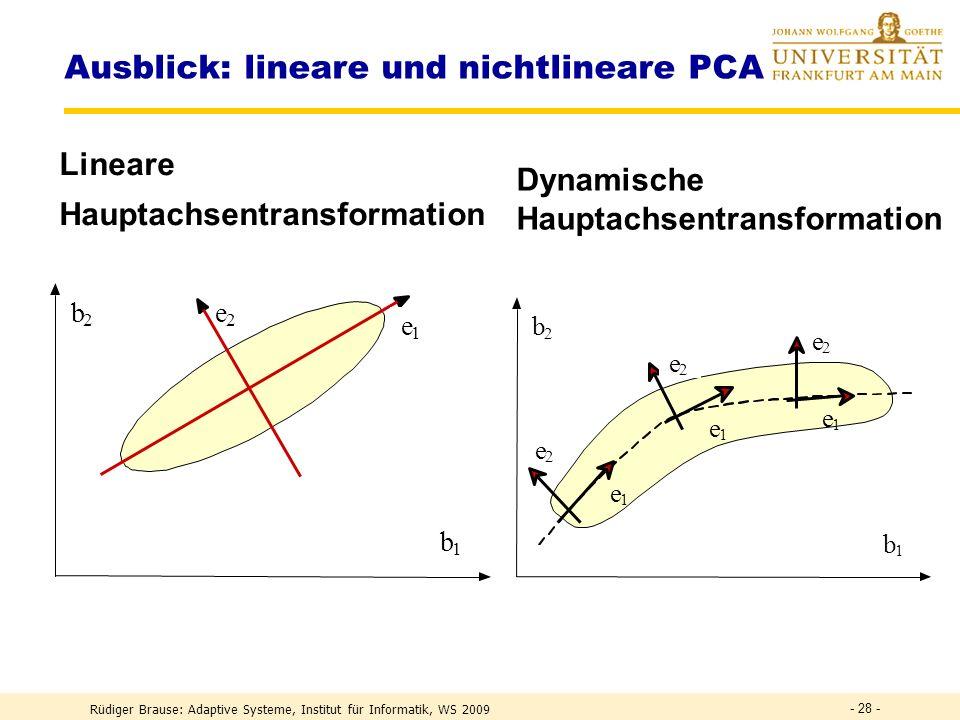 Ausblick: lineare und nichtlineare PCA