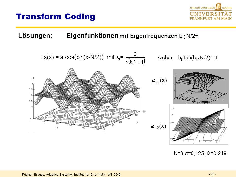 Transform Coding e1 e2 e3 e4 e5 e6 e7 e8