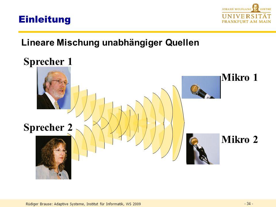 Sprecher 1 Mikro 1 Sprecher 2 Mikro 2 Einleitung