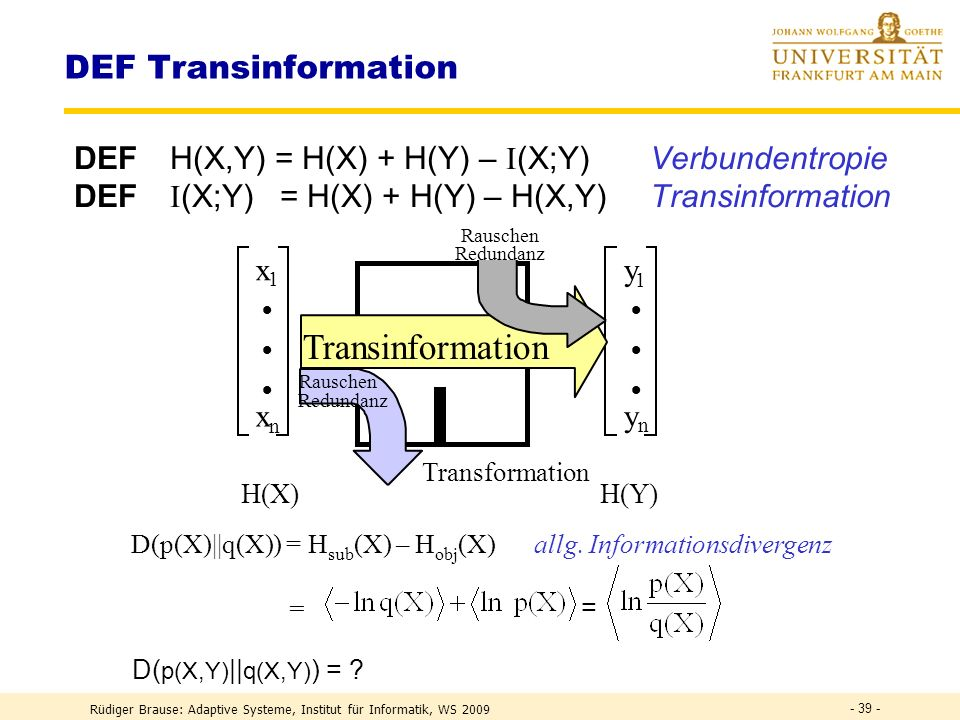 Transinformation DEF Transinformation
