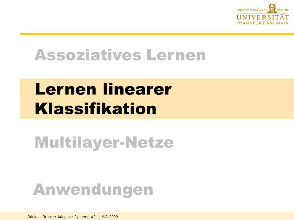 Lernen linearer Klassifikation