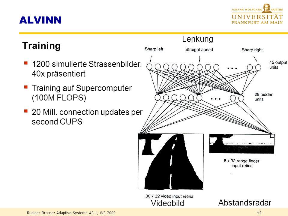 ALVINN Training Lenkung