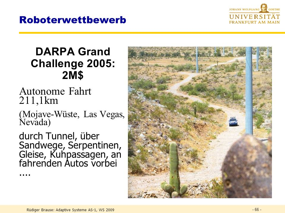 DARPA Grand Challenge 2005: 2M$