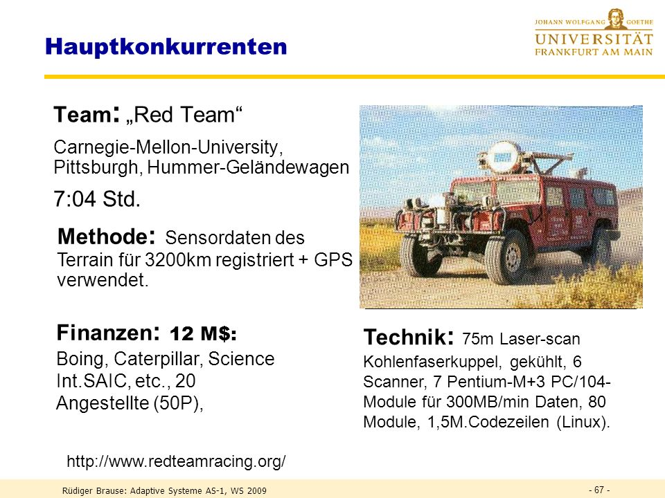 "Hauptkonkurrenten Team: ""Red Team 7:04 Std."