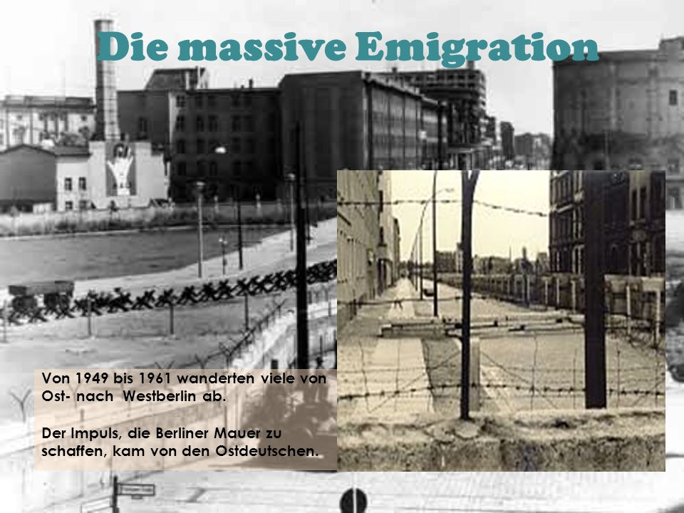 Die massive Emigration