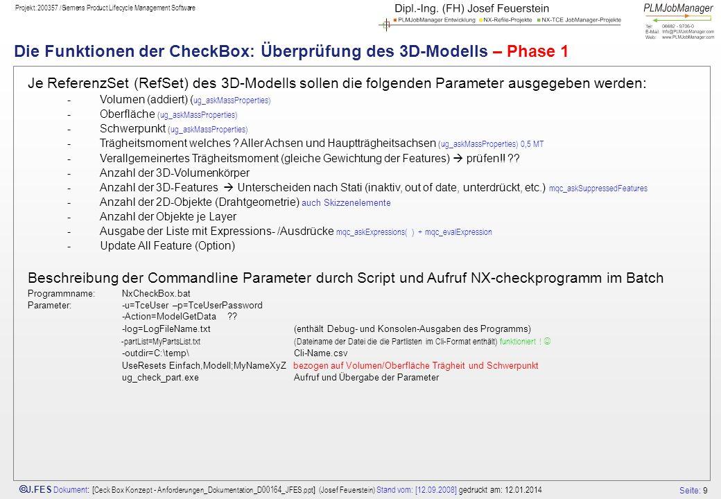 Die Funktionen der CheckBox: Überprüfung des 3D-Modells – Phase 1