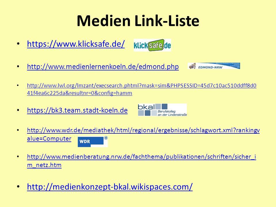 Medien Link-Liste https://www.klicksafe.de/