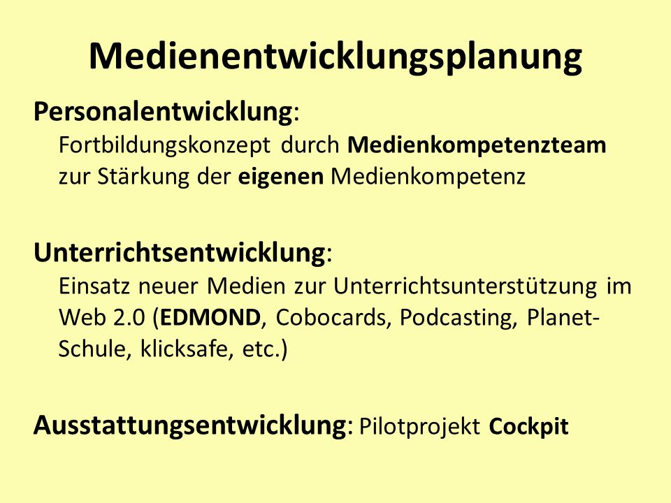 Medienentwicklungsplanung